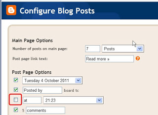 configure blog posts_